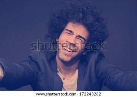 man Doing Selfie - stock photo