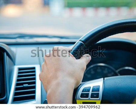 Man driving a car, business man ,vintage tone