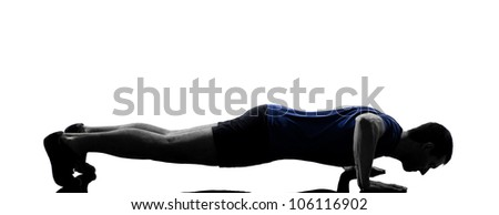 Workout fitness aerobics posture in silhouette studio isolated