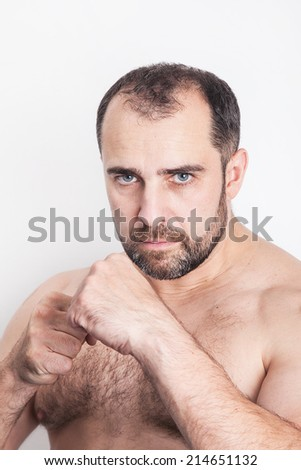 Man figting - stock photo