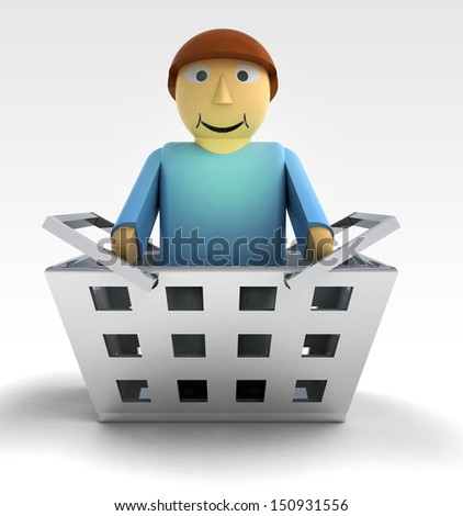 man figure character as trade merchandise illustration - stock photo