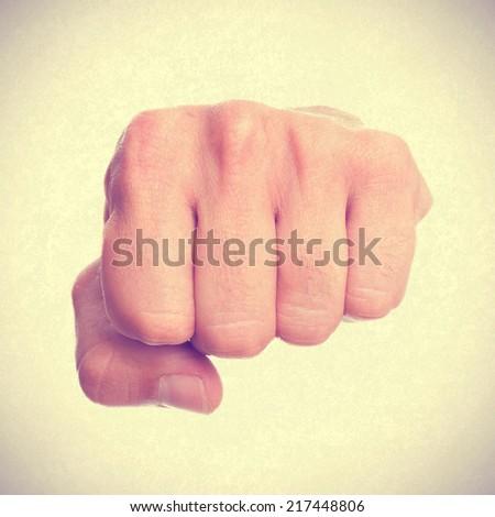 man fist - stock photo