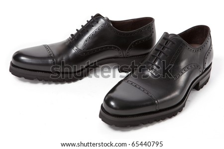 Man footwear on a white background - stock photo