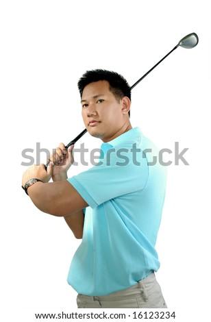 Man Golfing - stock photo