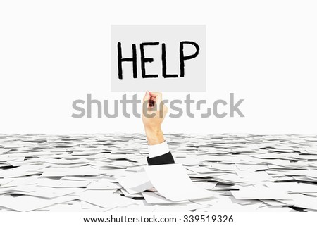 bureaucracy stock images royalty images vectors shutterstock man hand asks for help among heap of paper bureaucracy concept