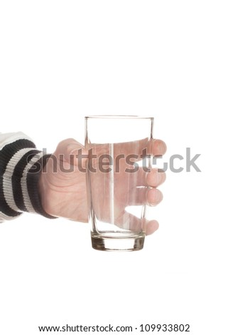 man hand with a glass