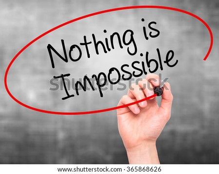I believe that nothing is impossible