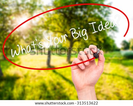 What is a big idea in writing?