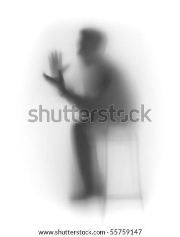 Man handclaps abstract - stock photo