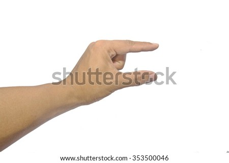 Man hands on white backgrounds - stock photo