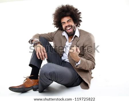 Man having fun - stock photo