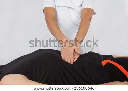 man having pain  - stock photo