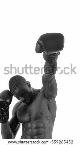 man hitting boxing - stock photo
