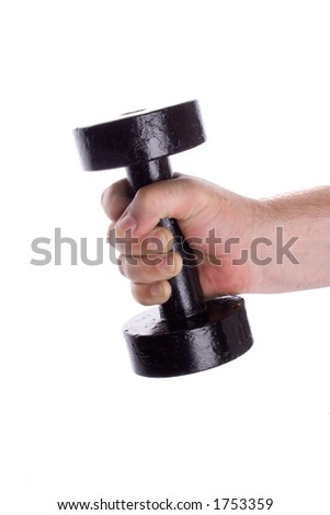 Man holding a dumbell