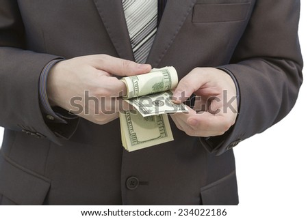 Man holding a hundred dollar bill