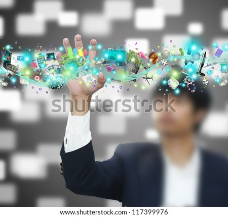 Man holding object