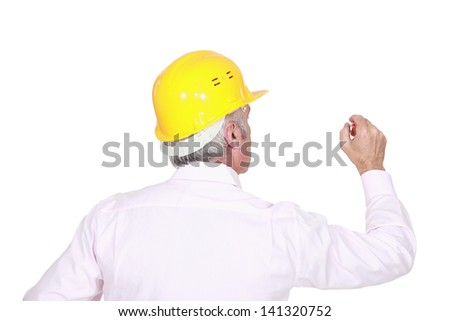 Man in a hardhat - stock photo