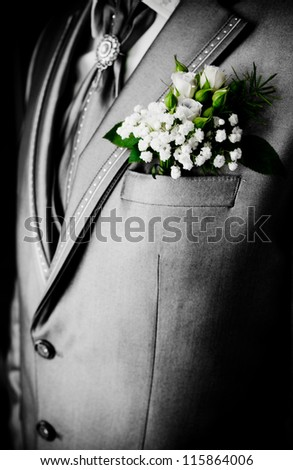 man in a wedding jacket