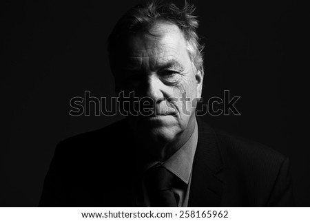 Man in Black and white  - stock photo