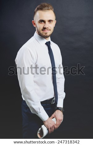 man in business clothes