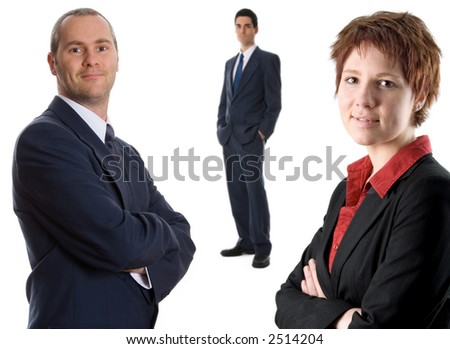 man in business suit on isolated background