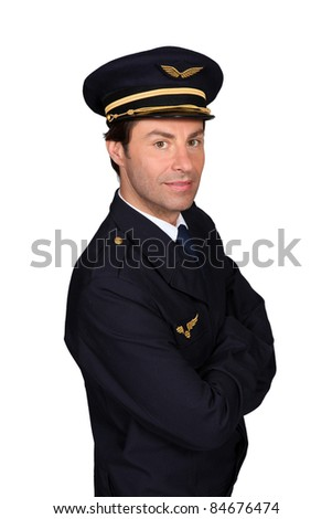 Man in Captain's outfit