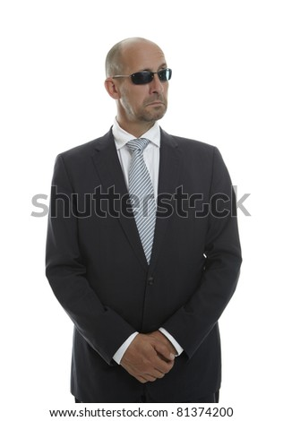 Man in Draft with sunglasses - stock photo