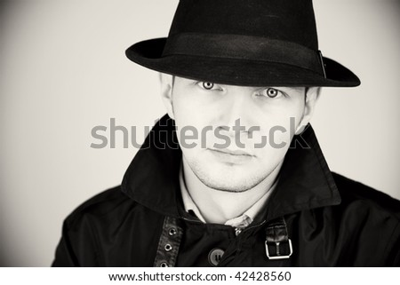 man in hat - stock photo