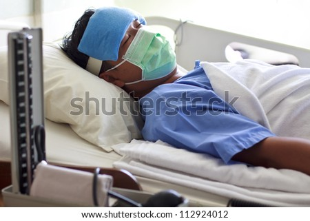 man in hospital - stock photo