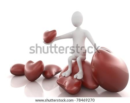 Man in love - stock photo