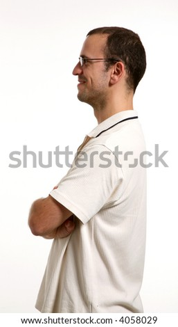 man in studio - stock photo