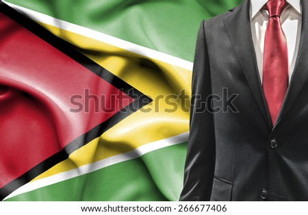 Man in suit from Guyana - stock photo