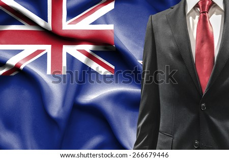Man in suit from New Zealand - stock photo