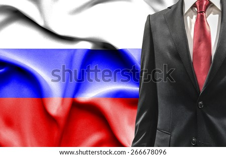Man in suit from Russia - stock photo