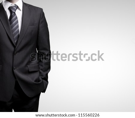 man in suit on a white background
