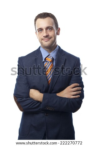 Man in suit self-confidence - stock photo