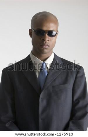 Man in sun glasses - stock photo