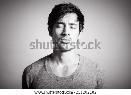 Man in thought. - stock photo