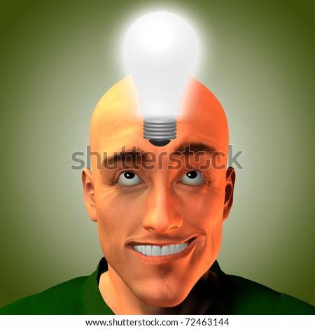 Man innovates - stock photo