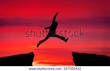 Illustration silhouette artistic skater stock vector for Jump the gap