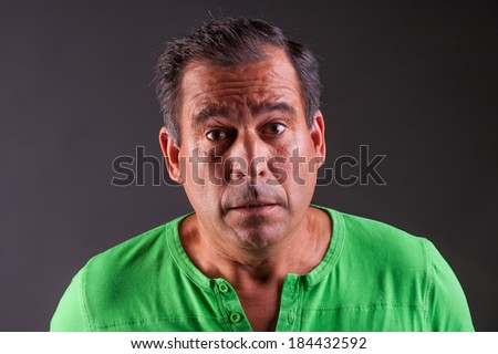 man looking amazed or confuse - stock photo