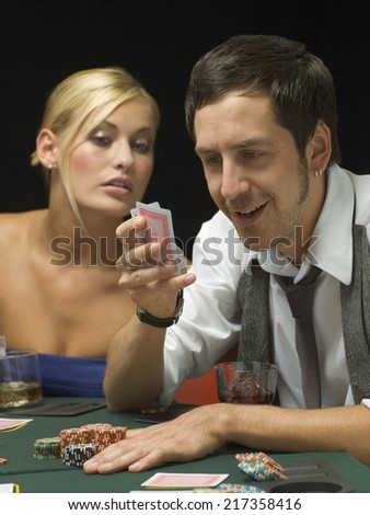 Win poker tournament without looking at cards