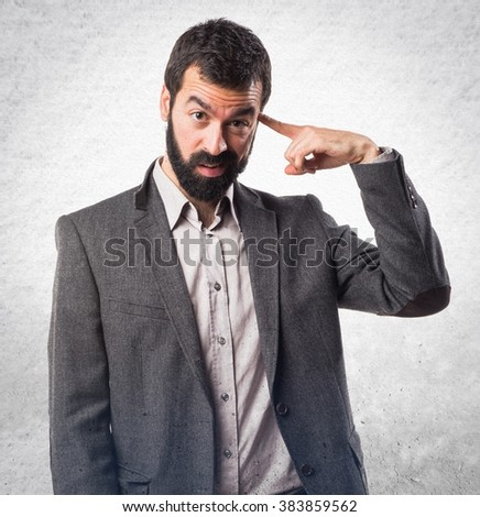 Man making crazy gesture