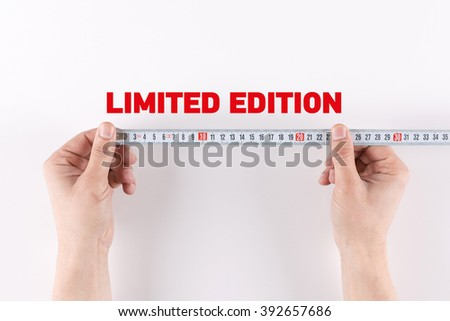 Man measuring LIMITED EDITION - stock photo