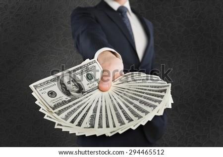 Man, money, rich. - stock photo