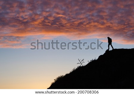 Man on a hill