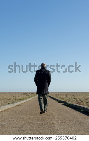 Man On Long Walking Journey