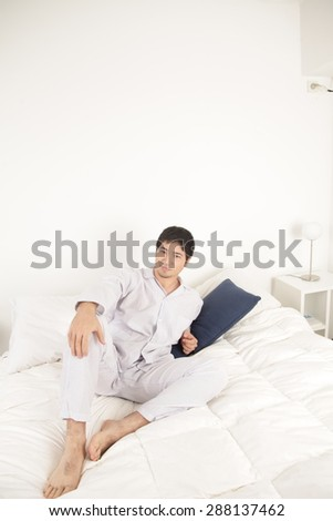 Man on the bed