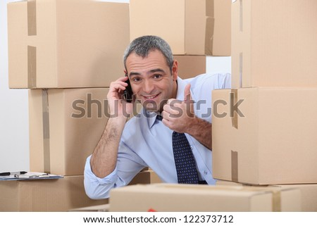 man on the phone - stock photo