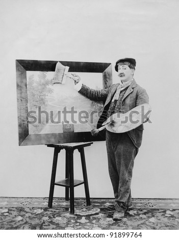 Man Painting - stock photo